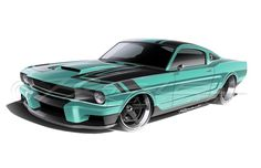 Ragle Designs sketch for RIngbrothers' carbon-fibre 'Espionage' Mustang.