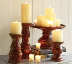 Love these chunky candle holders