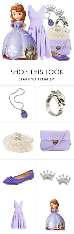 """Sofia the first"" by almostfamous86 ❤ liked on Polyvore featuring Disney, Forever 21, GC Shoes, disney, disneybound, dapperday and sofiathefirst"