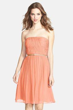 'Donna' Belted Chiffon Dress