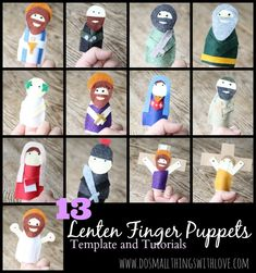13 Lenten Finger Puppets - templates and tutorial