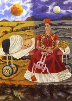 """Frida Kahlo """"Árbol de la Esperanza mantenme firme"""" (1946) Pintura.  Tema: Accidentes diversos, polio, espina bífida"""