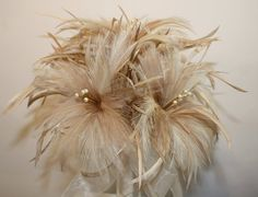 Feather bouquet in natural colours with by ElizaAndCharleston, £75.00