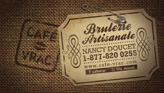 Le derrière de la carte de Nancy Doucet    Crédit: Babillard Facebook de Nancy Doucet Doucet, Artisanal, Facebook, My Love, Products, Turtle Bulletin Board, Cards, Gadget
