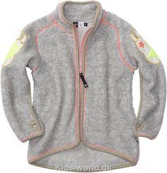 Teddyfleece jakke i grå fra Molo