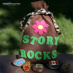 Story Rocks - Get the kids talking and bring out their creativity with these story rocks.  Perfect for around a campfire, around the dinner table, or even to keep them busy while you travel.  #travelactivity #travelwithkids #camping #craft