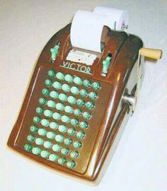 Manufactured: Victor Adding Machine Company, Chicago, 1950s