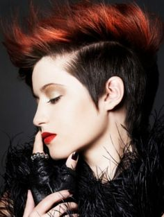 PUNK l RED ON TREND FOR #HAIRSTYLES & #HAIR ADVICE VISIT WWW.UKHAIRDRESSERS.COM