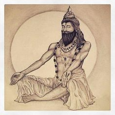Shiva, is the Lord of ascetics and Lord of Yogins, robed in space Digambara.