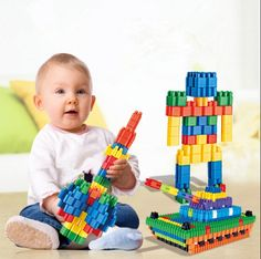 [$3.94] Variety Children's educational building blocks (specification: A Pack Of 10 Color Mix)