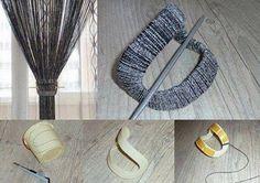 Como hacer un Sujeta Cortinas con Hilos de Lana - Patrones Crochet