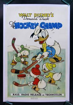 DONALD DUCK: THE HOCKEY CHAMP   1939 WALT DISNEY $24995