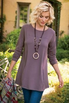 Cristobal Tunic from Soft Surroundings Looks like a nice flattering tunic  $70