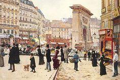 Jean Beraud, La Porte Saint Denis Fine Art Reproduction Oil Painting