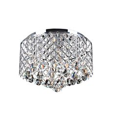 Nerisa Chrome Crystal Flush Mount Chandelier - Overstock Shopping - Big Discounts on Otis Designs Flush Mounts Drum Shade Chandelier, Flush Mount Chandelier, Flush Mount Ceiling, Chandelier Ideas, Chandelier Bedroom, Crystal Pendant Lighting, Pendant Lights, Contemporary Light Fixtures, Visual Texture