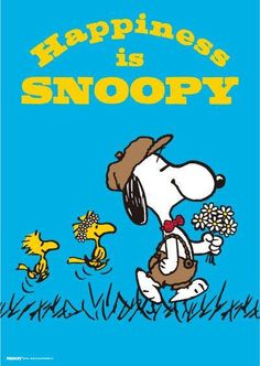 Happiness Is Snoopy - With Snoopy, Woodstock and Friend