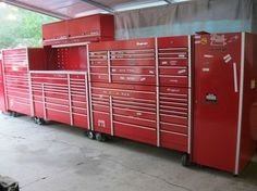 Snap on Snapon Snap-on KRL 6 section 26' wide tool box set up that is huge. #Snapon
