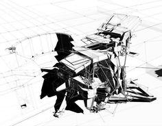 World collision. Architecture Graphics, Architecture Drawings, Gothic Architecture, Amazing Architecture, Architecture Design, Classical Architecture, Landscape Architecture, Conceptual Sketches, Drawing Sketches