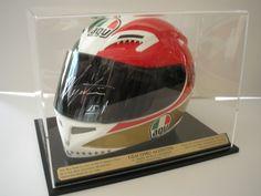 Giacomo Agostini signed replica helmet