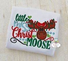 Little Miss Christ Moose Shirt or Bodysuit by GingerLyBoutique