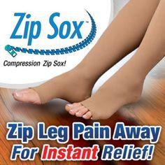 Zip Sox - Compression Circulation Socks - As Seen On TV