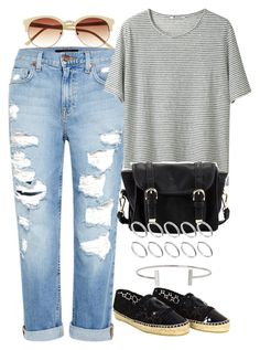 """""""Untitled #316"""" by lama19 ❤ liked on Polyvore featuring Genetic Denim, T By Alexander Wang, Vince Camuto, Poverty Flats, Humble Chic, ASOS and Chanel"""