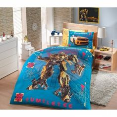 transformers bed spreds | Transformers Bumblebee Single Twin Duvet Quilt Comforter Cover Set ...