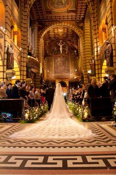 the walk down the aisle,beautiful chruch wedding pic!!