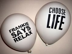 80s Party Decorations - 80s Slogan Balloons x 10 - Helium Quality