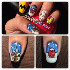 Charlie Brown Christmas Nails!!!