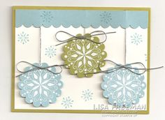 Snow Swirled Ornaments | Stamping With Lisa