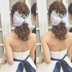 お洒落なポニーテールの花嫁ヘアアレンジカタログ   marry[マリー]