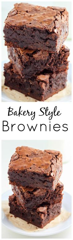 This is the recipe for the FAMOUS Baked Bakery brownies! Super thick, fudgy, and sure to win you over!: