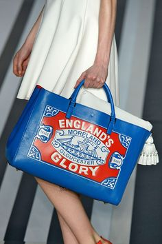 This super edgy bag from #AnyaHindmarch A/W 2014-15 collection is so unusual, it is sure to grab those eyeballs.