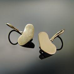 Tiny Heart earrings, 14K yellow gold, small heart drop earrings, bridal earrings, wedding jewelry, Everyday earrings, Gold love Jewelry Sale