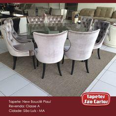Tapetes como o New Bouclê Piauí são os ideais para salas de jantar. Por serem rústicos e de pelo baixo, são fáceis de limpar e seu tom combinado com todos os estilos de mesa de jantar. Loja Classe A - Av. São Luis Rei de França, 17A - Olho D'Agua. #Decor #TapetesSaoCarlos