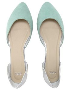 Image 2 of ASOS LIBERTY Pointed Ballet Flats