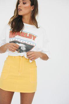 Realise Mini Skirt // Yellow