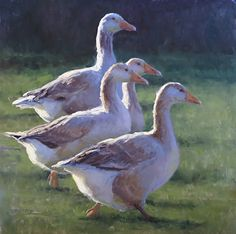 Out for a Gander by Kathleen Dunphy Oil ~ 30 x 30