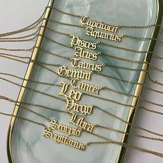 Emerald Necklace / Genuine Emerald Necklace in Gold / Unique Emerald and Diamond Pendant / May Birthstone / Natural Emerald Jewelry - Fine Jewelry Ideas Zodiac Sign Necklace, Zodiac Jewelry, Name Necklace, Gold Necklace, Gold Bracelets, Initial Necklace, Nameplate Necklace, Jewellery Bracelets, Pendant Necklace