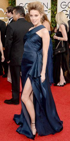 Amber Heard - 2014 Golden Globes: Red Carpet Arrivals - Golden Globes 2014 - Celebrity - InStyle