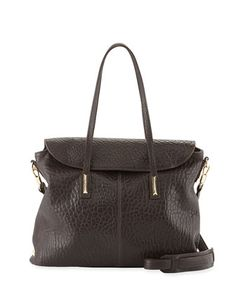 Pyramid Leather Satchel Bag, Raisin by Elizabeth and James at Neiman Marcus. $545