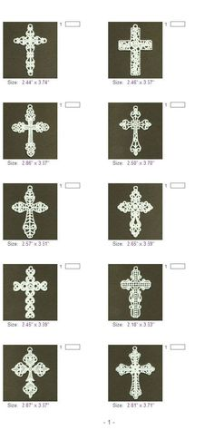 FSL Filigree Cross Free Standing Lace Ornaments Machine by embhome