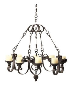 Love this Industrial Chandelier on #zulily! #zulilyfinds