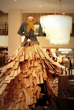"Anthropologie ""dress"" - skirt looks to be made from thin lumber planks."