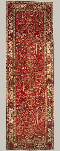 Carpet with pictorial design [Pakistan (Lahore)] (17.190.858) | Heilbrunn Timeline of Art History | The Metropolitan Museum of Art