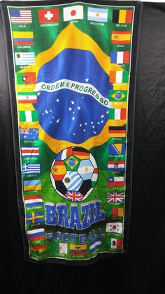 Best World Soccer Team Brazil Football Beach Bath Towel #WorldBestSoccerTeam #Brazil