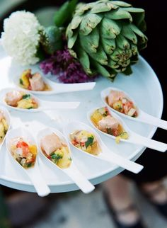 style me pretty - real wedding - usa - texas - austin wedding - mercury hall - food & drink - food - appetizers