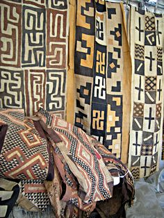 Kuba Cloth made from raffia palm in Zaire | Africa