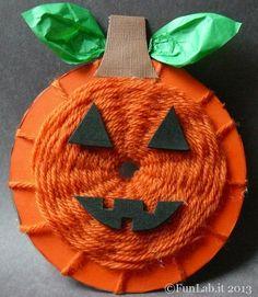 lavoretti di Halloween - la zucca cd musicale